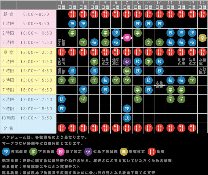 合宿流れ図