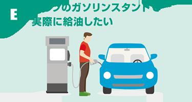 E:セルフのガソリンスタンドで実際に給油したい