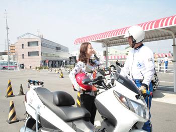 阪和鳳自動車学校技能教習風景