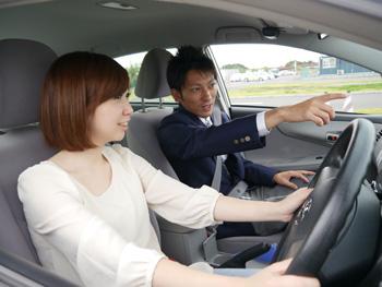坂戸自動車教習所教習風景