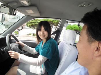 平中央自動車学校教習風景